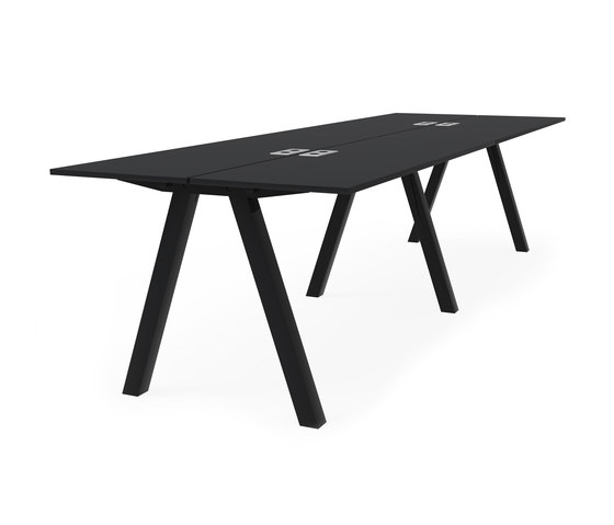 Frankie bench desk high A-leg 90cm de Martela | Mesas contract
