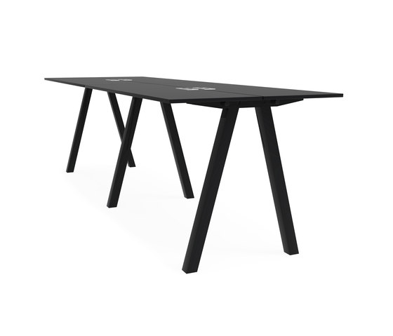 Frankie bench desk high A-leg 110cm de Martela | Tables multimédia