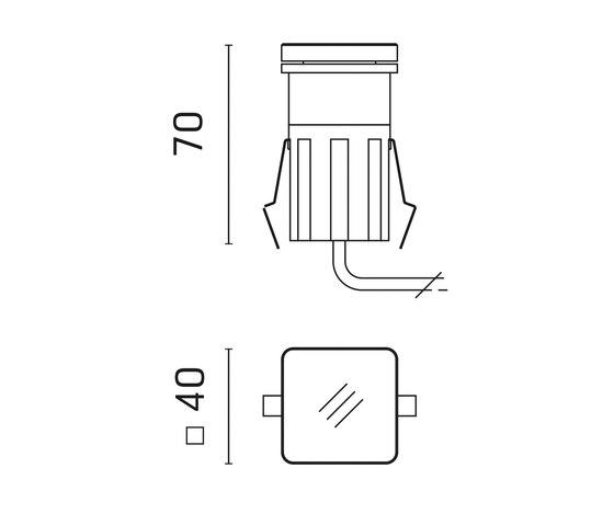 Tapioca Power LED / 40x40mm - Transparent Glass - Narrow Beam 10° de Ares | Lámparas exteriores de pared