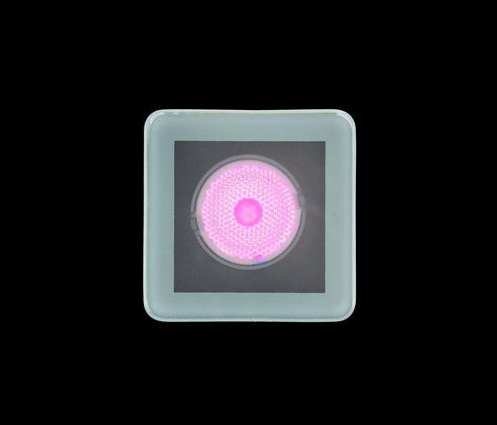 Tapioca RGB Power LED / 70x70mm - Sandblasted Glass de Ares | Spots