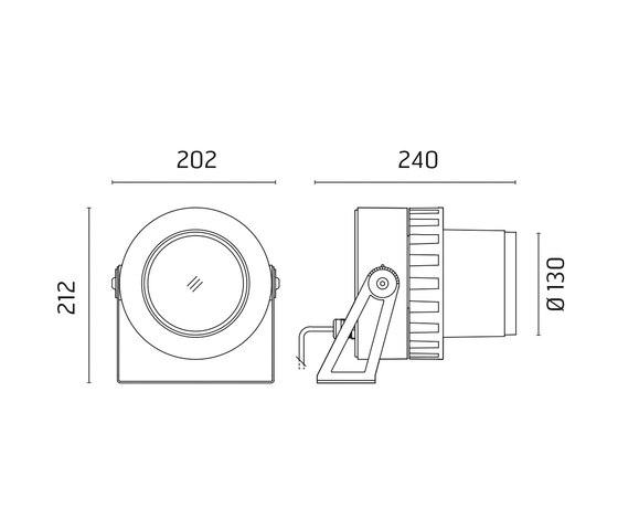 Spock 130 CoB LED - Adjustable - Medium Beam 20° by Ares | Spotlights