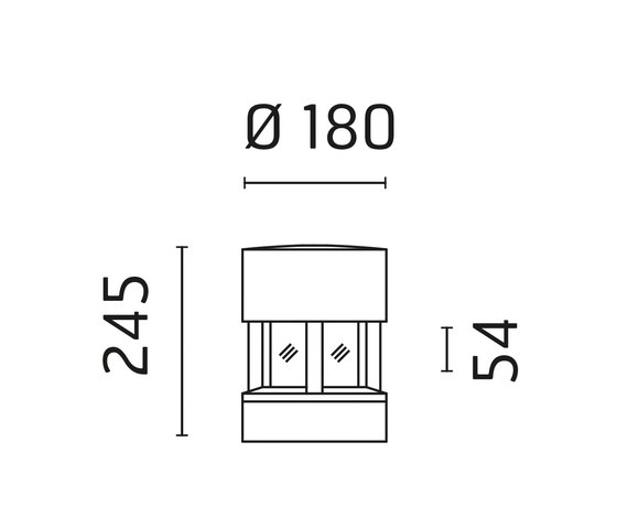 Silvia / Sandblasted Glass - 120° Emission von Ares | Strahler