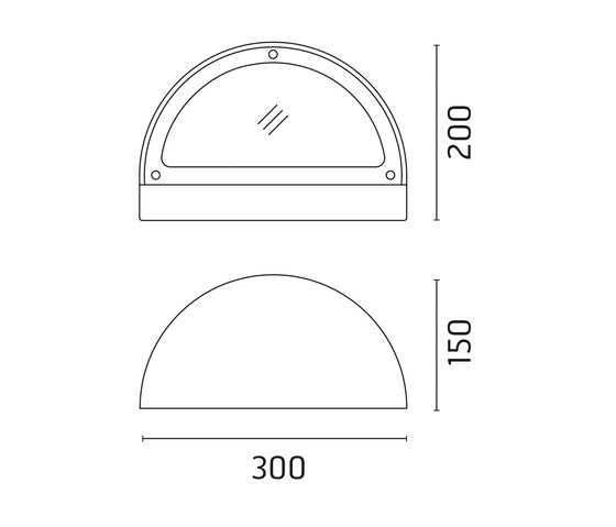 Memi Mid-Power LED / Sandblasted Glass von Ares | Außen Wandanbauleuchten