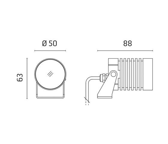 Iota Power LED / Adjustable - Narrow Beam 10° by Ares | Spotlights