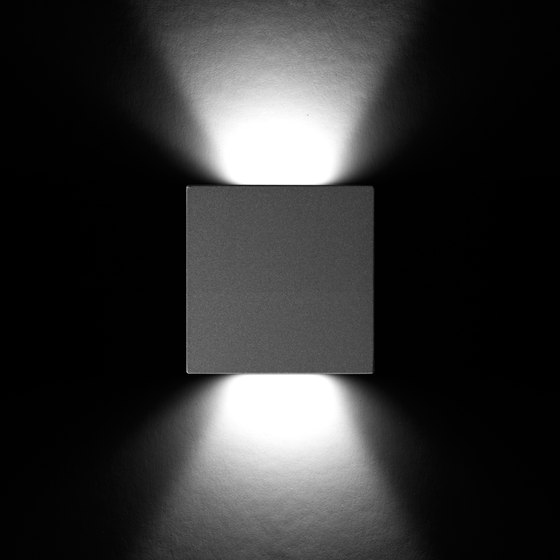 Rho Power LED / Square Aluminium Frame de Ares | Lámparas exteriores de pared