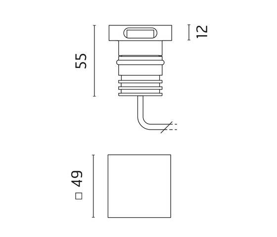 Rho Power LED / Square Aluminium Frame de Ares | Lámparas exteriores de pared