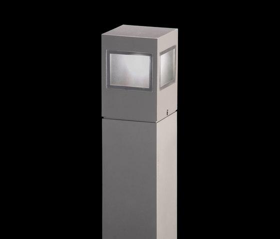 Leo 120 on post / Omnidirectional - Sandblasted Glass de Ares | Spots