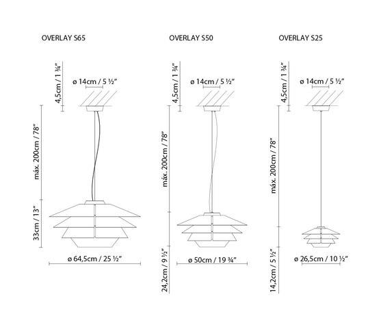 Overlay S50 de B.LUX | Lámparas de suspensión