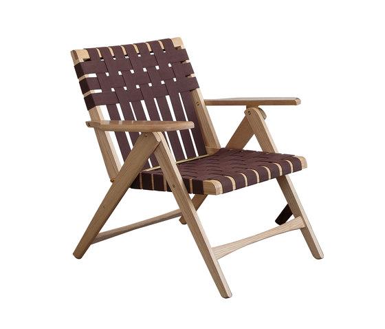 Folding Lounge Chair Oak by Todd St. John | Armchairs