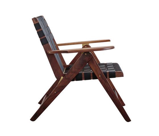 Folding Lounge Chair Walnut de Todd St. John | Sillones