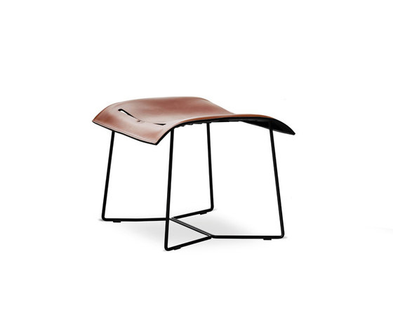 Cuoio Lounge stool by Walter K.   Poufs