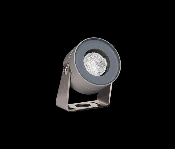 MiniMartina Aqua Power LED / Inox 316L a immersione - Vetro trasparente - Orientabile - Fascio medio 30° di Ares   Lampade outdoor parete