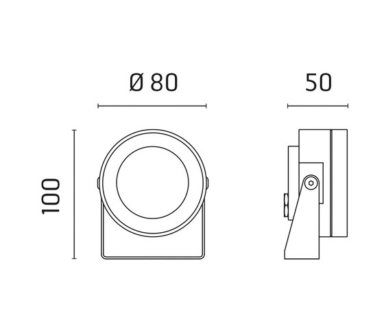 Martina Aqua RGB Power LED / Inox 316L a immersione - Vetro trasparente - Orientabile - Fascio medio 35° di Ares | Lampade outdoor parete