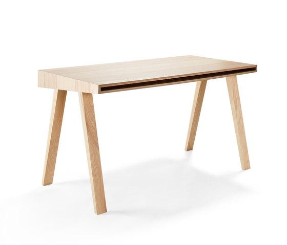 4.9 Writing Desk, 2 drawers, Lithuanian Ash by EMKO | Desks
