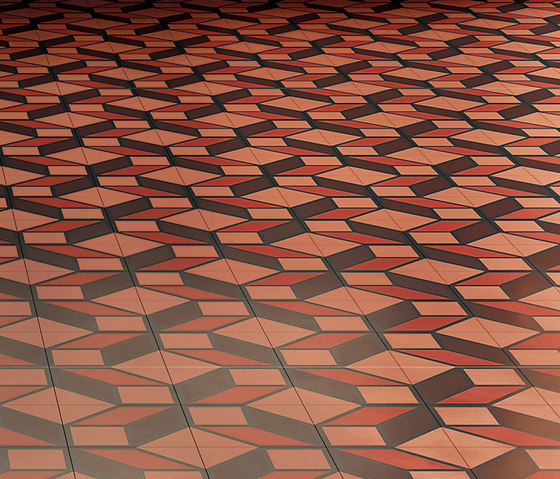 Skew Red by Bisazza | Concrete tiles
