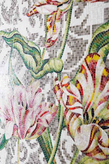 Grey Tulips by Bisazza | Glass mosaics