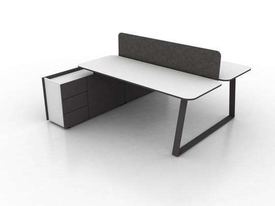 Coach Double office desk by Ergolain | Desks
