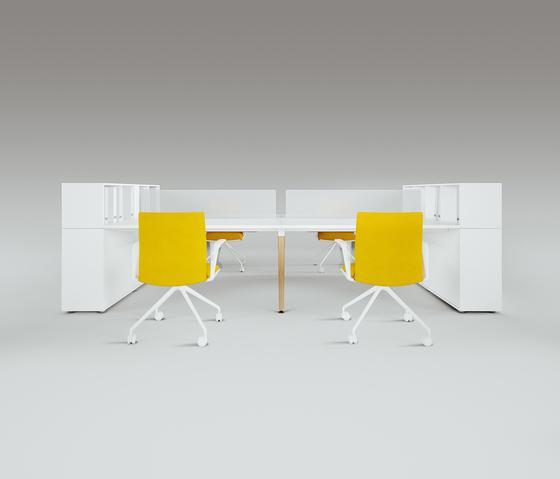 Scando Four-seat office desk di Ergolain | Scrivanie