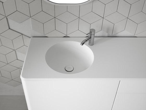 Cerclo Corian® Washbasin Countertop de Inbani | Lavabos