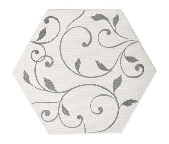 Ornamenti Terra Bianca Damasco Silver de Valmori Ceramica Design | Carrelage céramique