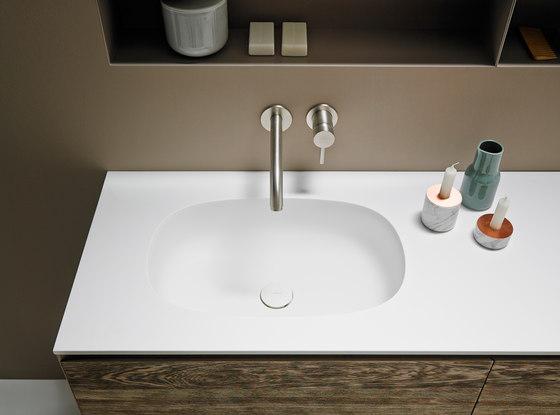 Ovalo Corian® Washbasin Countertop de Inbani | Lavabos