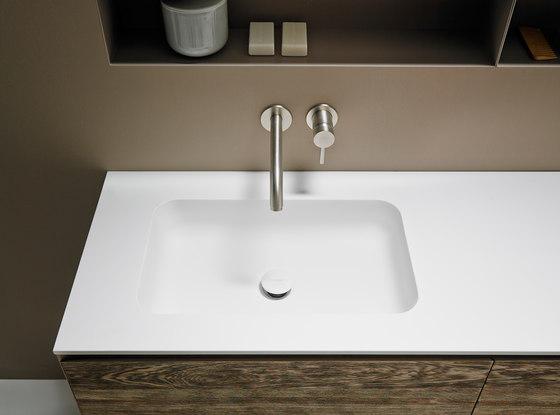 Quadro 55 Undermount Matt Corian® Sink de Inbani | Lavabos