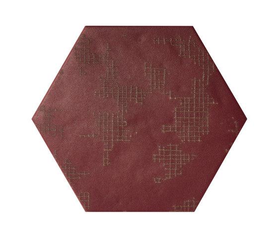 Ornamenti GF Terra Bordeaux by Valmori Ceramica Design   Ceramic tiles