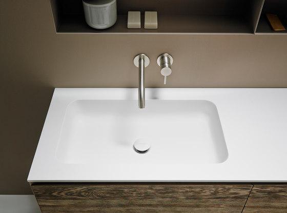 Quadro 65 Undermount Matt Corian® Sink de Inbani | Lavabos