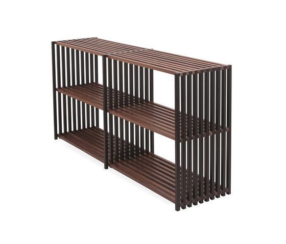 Office contract furniture storage shelving shelf systems - Rebar By Joval Foldable Shelving System Sideboard 2 0