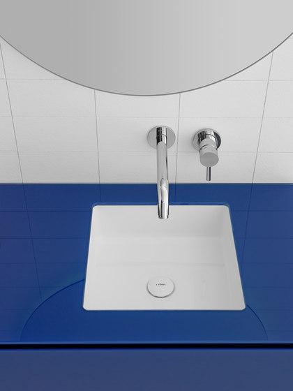 Glaze Square Undermount Ceramilux® Sink di Inbani | Lavabi