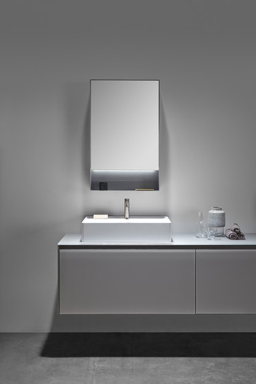 Strato Metallic Cabinet Mirror de Inbani | Armarios espejo