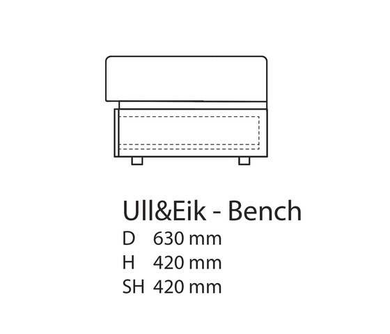 Ull & Eik Bench by Thorsønn | Upholstered benches