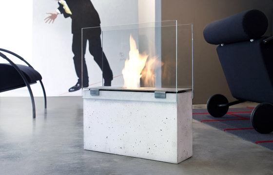 Muro Ethanol Fireplace by conmoto | Open fireplaces