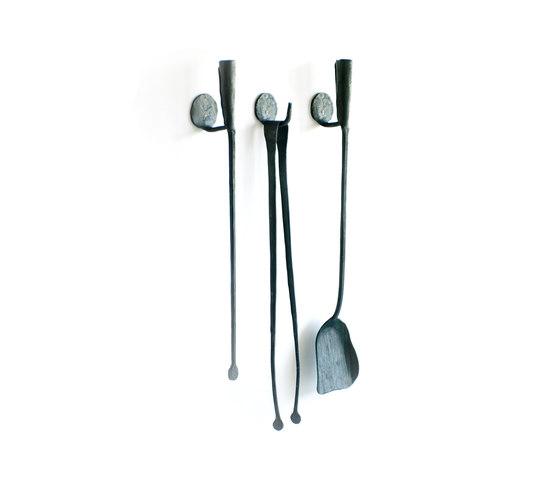 A Ferro e Fuoco Companion Set / Wall hooks by conmoto | Fireplace accessories