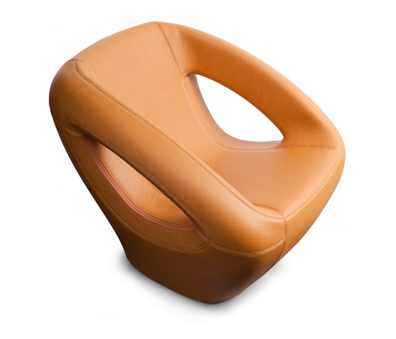 Seaser Leather, lounge chair di Lonc | Poltrone