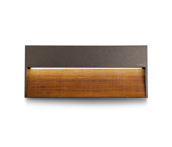 Skill Wood rectangular by Simes | Outdoor wall lights