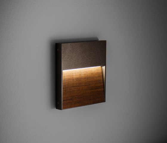Skill Wood square by Simes | Outdoor wall lights