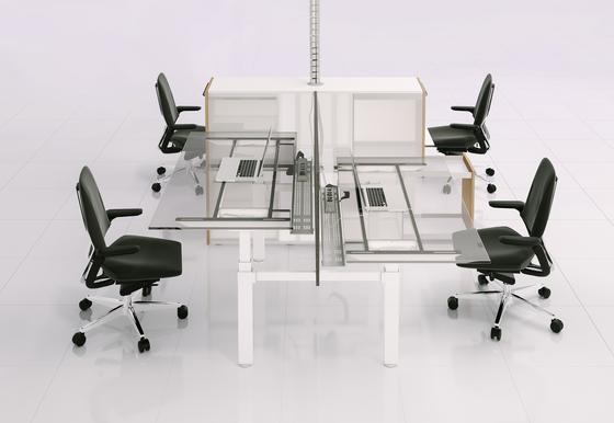 X-Ray Four-seat office desk de Ergolain | Bureaux