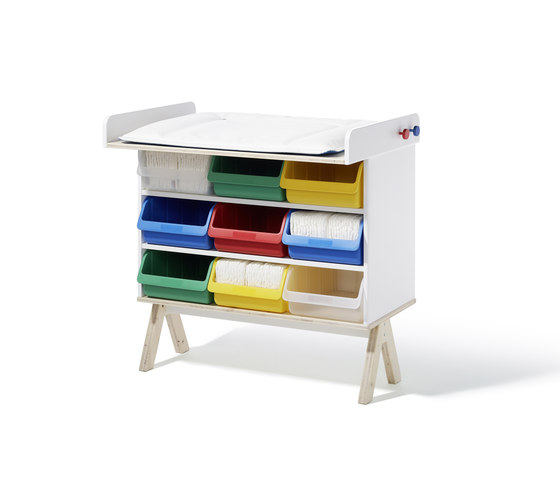 Famille Garage baby changing table de Richard Lampert | Cambiadores