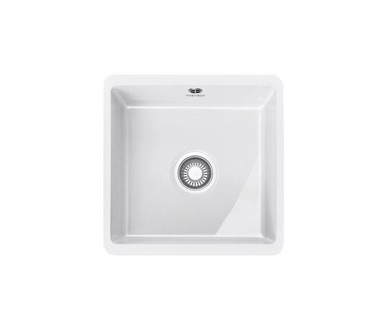 Kubus Sink KBK 110-40 Ceramic Glacier by Franke Home Solutions | Kitchen sinks