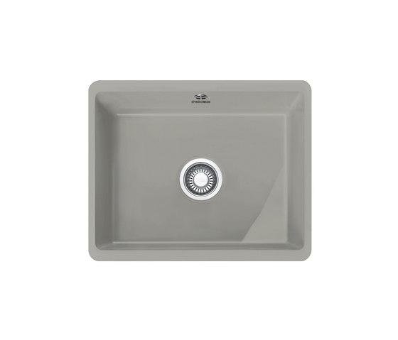 Kubus Sink KBK 110-50 Ceramic Pearl Grey Matt by Franke Kitchen Systems | Kitchen sinks