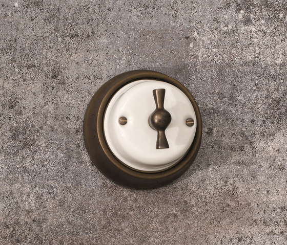 Fusion⎟brass and porcelain by Gi Gambarelli | Rotary switches