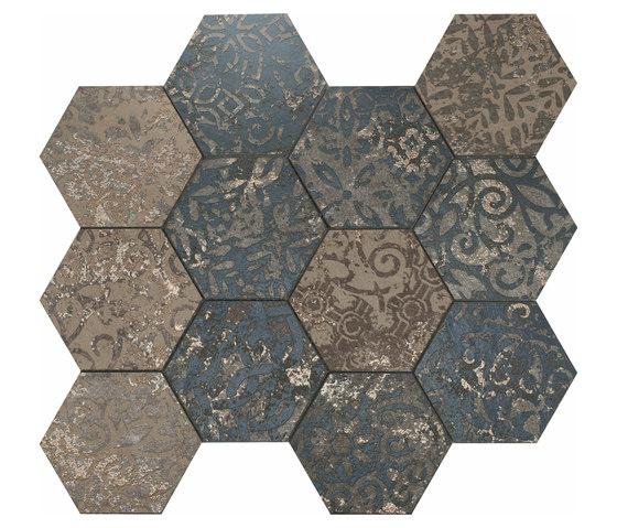 Mosaico Esagona dek steel von Ceramiche Supergres | Keramik Mosaike
