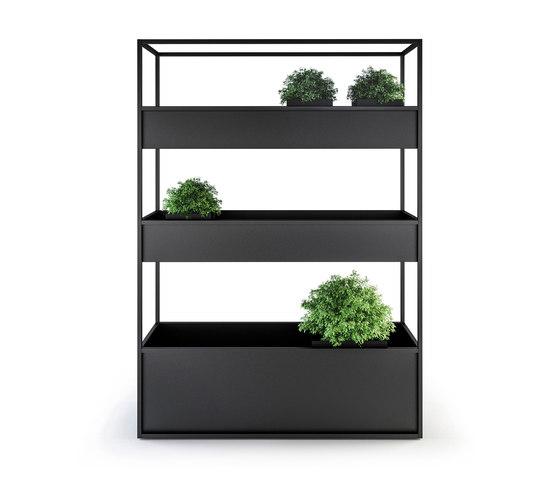 Planter / Flower pot | Planter Carl 1400 3 boxes von Röshults | Sichtschutz