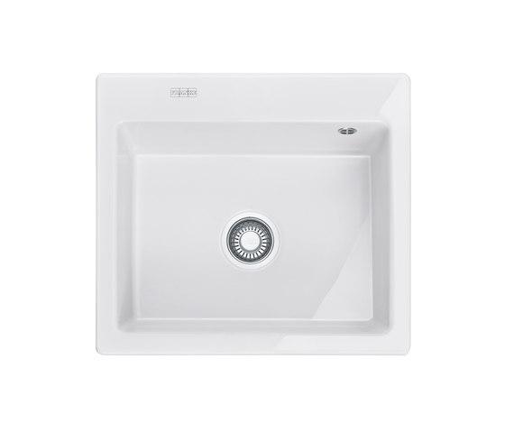 Mythos Sink MTK 610-58 Ceramic Glacier by Franke Kitchen Systems | Kitchen sinks