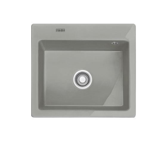 Mythos Sink MTK 610-58 Ceramic Perlgrau Matt by Franke Kitchen Systems | Kitchen sinks