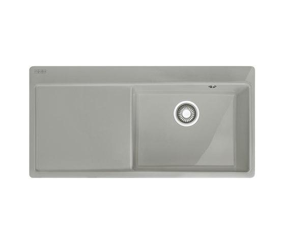 Mythos Sink MTK 211-100 Ceramic Pearl Grey Matt by Franke Kitchen Systems   Kitchen sinks