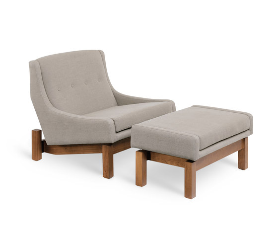 Paraty armchair⎟footstool by LinBrasil | Armchairs