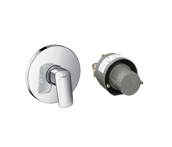 hansgrohe Logis Shower mixer set for concealed installation by Hansgrohe | Shower controls