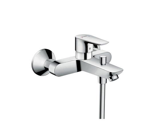 hansgrohe Talis E Mezclador monomando de bañera visto con excéntricas para distancia 153 mm entre tomas de Hansgrohe | Grifería para bañeras